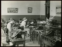 Durham High School Students At Typewriters
