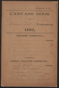 Canvass Book of Beans Mill Township, 1890.