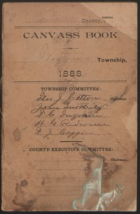 Canvass Book of Flaggtown Township, 1888.