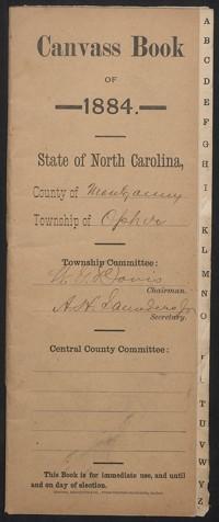 Canvass Book of Ophir Township, 1884.