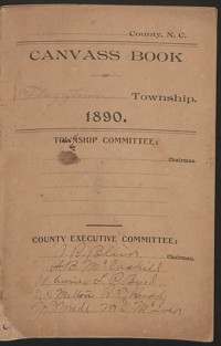 Canvass Book of Flaggtown Township, 1890.