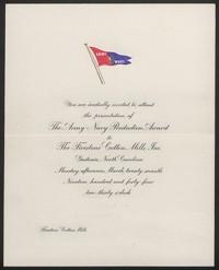 """Invitation to Army-Navy """"E"""" production Award Luncheon"""