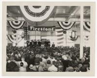 "Crowd Inside Firestone Mill at Army-Navy ""E"" production Award Ceremony"