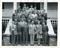 Group of Soldiers Posed with Firestone Officials