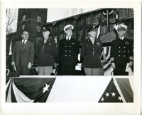 Military and Civilian Officials at Award Ceremony