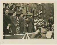 "Firestone Employees Receiving Wartime Army-Navy ""E"" production Award"