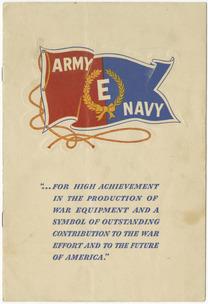 "Army-Navy ""E"" production Award Ceremony Program for Firestone Mills"
